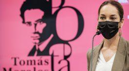LAS PALMAS DE GRAN CANARIA (Canarias). 22/07/2021.- El presidente del Cabildo de Gran Canaria, Antonio Morales; la consejera de Cultura, Guacimara Medina; el alcalde de la villa de Moya, Raúl Afonso; el director general de Cultura del ejecutivo regional, Rubén Pérez, presentaron los actos organizados con motivo del centenario del fallecimiento del poeta Tomás Morales (1884-1921).  ©Ángel Medina G./Cabildo de Gran Canaria